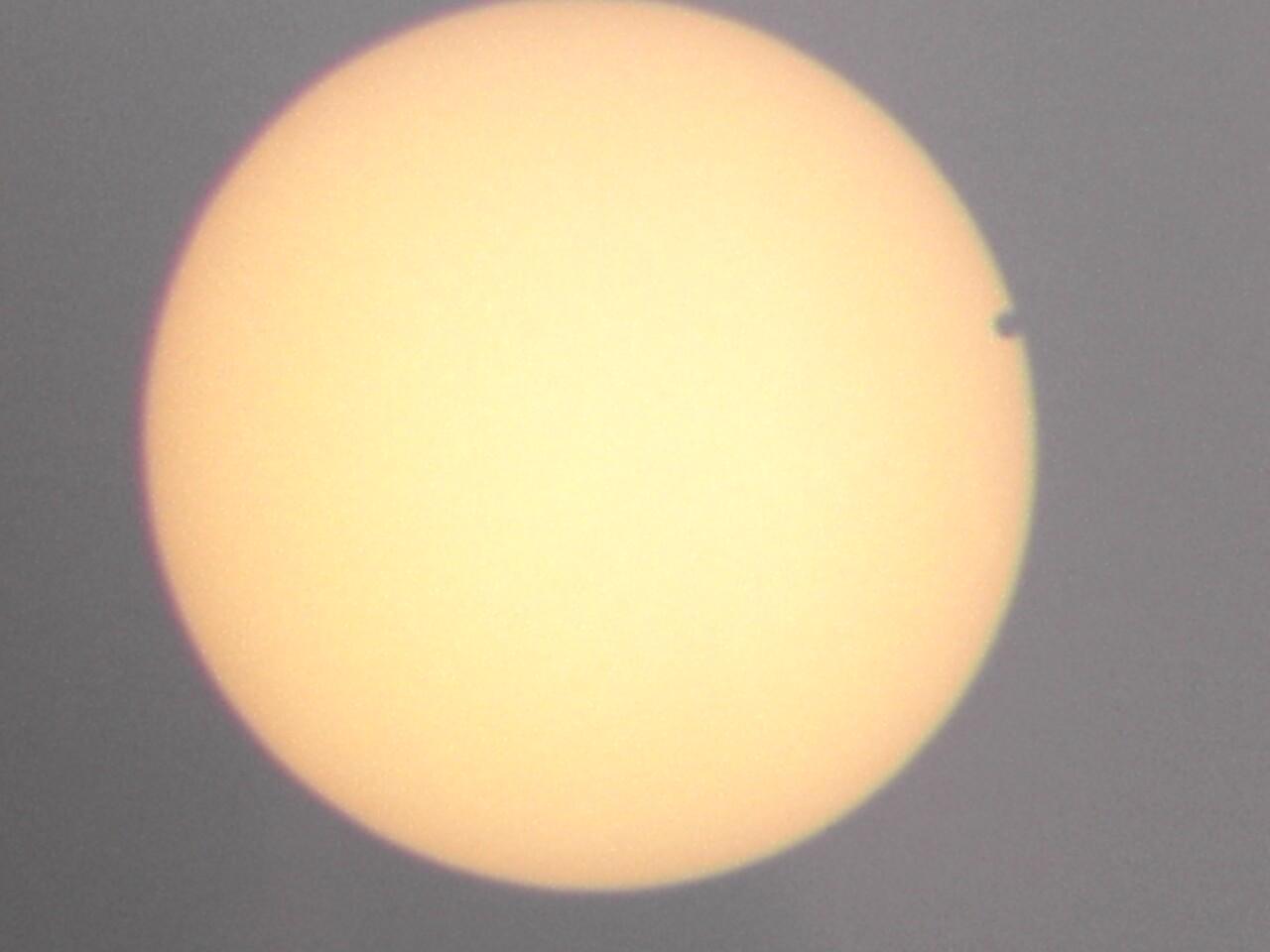 Малюнак Венеры транзітная Сонца, як відаць з Піцбурга 2004 8 Чэрвеня